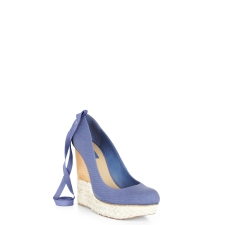 Gazelle Ankle-tie wedge Available at BCBG.com