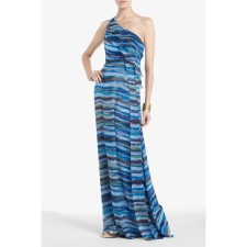 Stella one-shoulder Evening Gown By BCBG.com