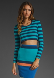 Torn by Ronny Kobo. Crop sweater and Skirt both available at shopbop.com
