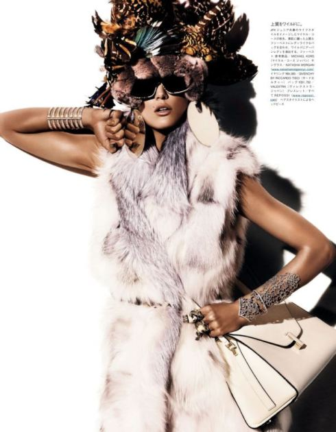 Vogue Japan: Kendra Spears Styled by Anna Dello Russo