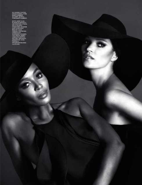 Naomi Campbell & Kate Moss: Interview Mag Dec 2012
