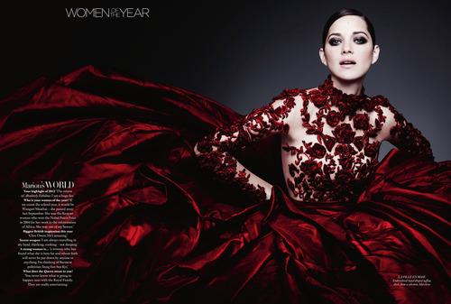 Marion Cotillard: Harpers Bazaar UK Dec 2012