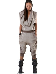 Demobaza Hooded slvls Linen Jumpsuit