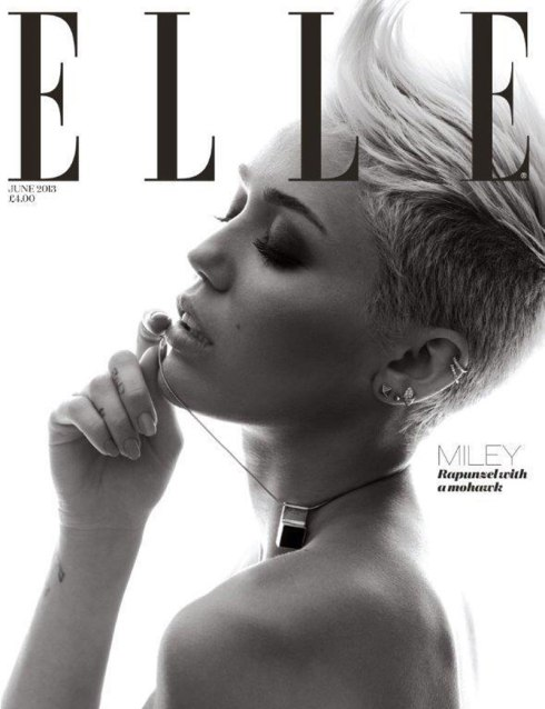MILEY CYRUS in Elle Magazine