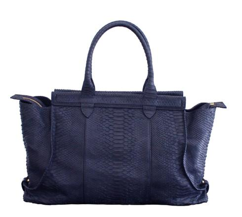 Chiqui Tote Navy Blue Python