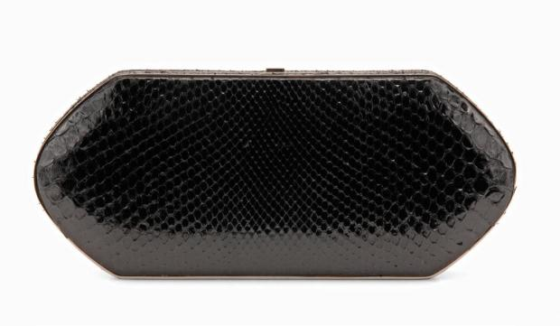 Large Black Python Compact Case